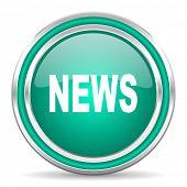 news green glossy web icon