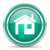 house green glossy web icon