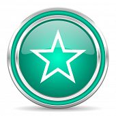 star green glossy web icon