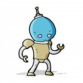 cartoon alien robot