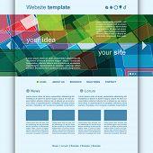 Website Template  Abstract Header Design vector