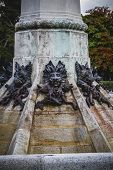 horror, devil figure, bronze sculpture with demonic gargoyles and monsters