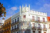 Neoclassical buildings in Valencia Spain.