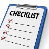 Blank Checklist Clipboard