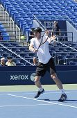 Grand Slam Champion Andy Murray practices for US Open 2014