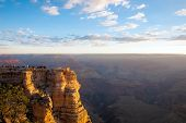Dozens Of Early Risers Watch The Sun Rise At The Grand Canyon