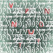 Seamless Pattern Decorative Alphabet Font Style Sketch
