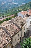 Panoramic view of Acerenza. Basilicata. Southern Italy.