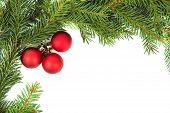Christmas Frame With Red Ball