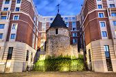 The Black Tower - Part Of Old Fortifications Of Brussels