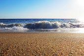 stock photo of faro  - Ocean view at  Praia de Faro - JPG