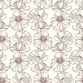 Seamless pattern with poppies. Floral background