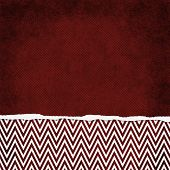 Square Red And White Zigzag Chevron Torn Grunge Textured Background