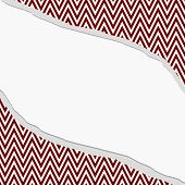 Red And White Chevron  Zigzag Frame With Torn Background