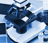 Microscope And Biological Reagents