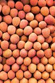 Many Lychees At A Market Stall