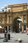 Republic Square In Florence Italy