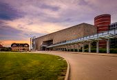 INDIANAPOLIS, INDIANA, JUNE 23, 2014: Indiana State Museum that houses exhibits of science, art, culture and history of Indiana. It is also a site of the largest in the state IMAX screen.