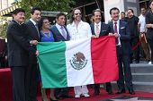 LOS ANGELES - AUG 21:  Los Tigres Del Norte, Consuelo Hernandez, Marco Antonio Solis at the Los Tigres Del Norte Honored On The Hollywood Walk Of Fame  on August 21, 2014 in Los Angeles, CA
