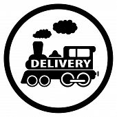 Moving Train Icon - Delivery Symbol