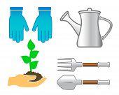 Set Tools - Colorful Garden Utensil