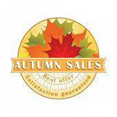 Autumn Sales Stamp / Label.