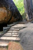 old stairs  in Sigiriya Castle, Sri Lanka