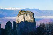 Cliff rock in Meteora, Greece