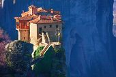 Close view on Rosanou monastery, Greece