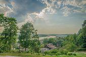 Nemunas river in Vilkija, Lithuania