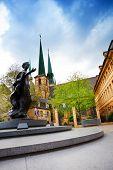 Statue of Grand Duchess Charlotte in Luxemburg
