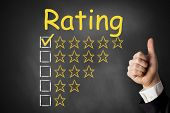 Thumbs Up Rating Stars Chalkboard