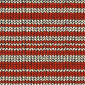 Sea mless pattern with knitted stripes