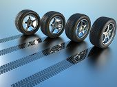 Todas as rodas de carro