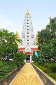 White Buddhagaya Pagoda In Public Temple