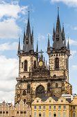 View Of The Tyn Church In Prague