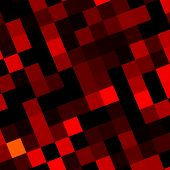 Abstract Red Pixels Mosaic Background Design - Web