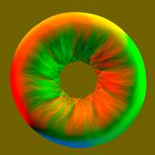 Abstract Colorful Retina - 3D Illustration