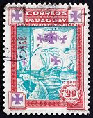 Postage Stamp Paraguay 1933 Flag With Three Crosses