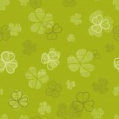 green clover textile texture seamless pattern background