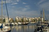 stock photo of zea  - Panoramic view of the Marina Zea Piraeus Greece - JPG