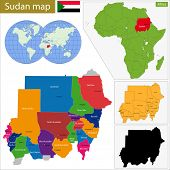 image of north sudan  - Administrative division of the Republic of the Sudan - JPG