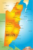 Vector map of Belize with the capital and cities