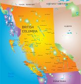 vector british columbia province map