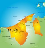 Vector color map of Brunei country