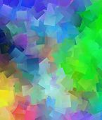 Beautiful Abstract Cubist Colourful Background
