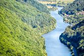 River Saar And Wooded Hills