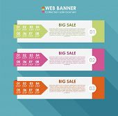 Collection sale banners in flat design