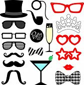 mustache propparty vector