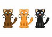 Cartoon tiger cats